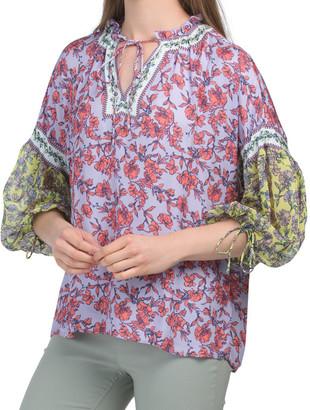 Julius Blouson Sleeve Tunic Top