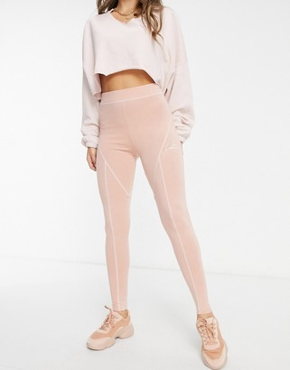 The Couture Club panelled leggings in pink