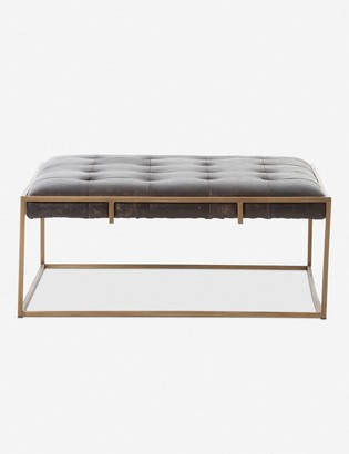 Lulu & Georgia Olwina Square Leather Coffee Table