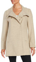 Larry Levine Textured Double-Breasted Coat