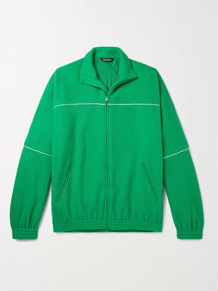 Balenciaga Oversized Piped Fleece Track Jacket - Men - Green