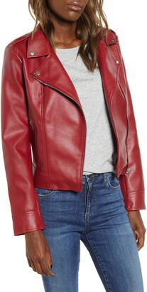BB Dakota Faux Leather Moto Jacket