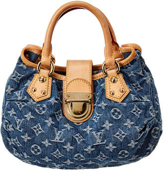 Louis Vuitton Blue Monogram Denim Pleaty