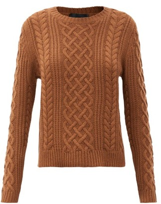 Nili Lotan Jodelle Cable-knit Cashmere Sweater - Brown