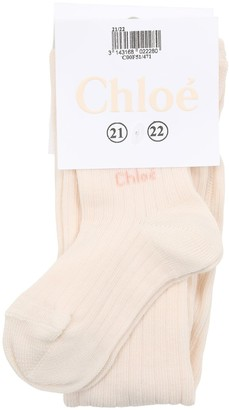 Chloé Cotton Rib Knit Tights