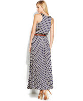 MICHAEL Michael Kors Dress, Sleeveless Printed Belted Maxi
