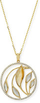 Frederic Sage Medium Venus Garden Mother-of-Pearl Pendant Necklace with Diamonds in 18K Yellow Gold