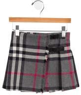 Burberry Girls' Virgin Wool Nova Check Skirt