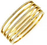 Vince Camuto Goldtone and Crystal Stacked Bangle Bracelet