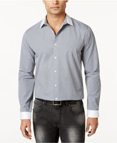 INC International Concepts Men's Non Iron Contrast-Trim Grid Shirt, Created for Macy's