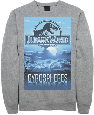 Men's Jurassic World Gyrospheres Tour Park Poster Graphic Graphic Fleece Pullover Pullover