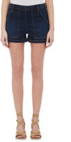 Frame Women's Antibes Side-Snap Shorts-BLUE, NAVY