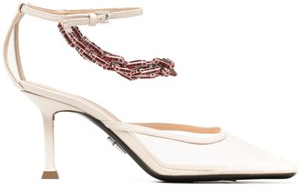 Cesare Paciotti Archive 80mm crystal-embellished sandals