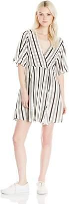 Billabong Junior's Dolly Flutter Sleeve Woven Dress
