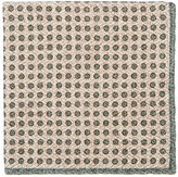 Brunello Cucinelli MEN'S DOTTED WOOL-SILK POCKET SQUARE