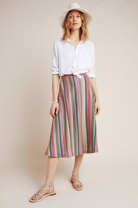 Maeve Arely Knit Midi Skirt By in Pink Size XS