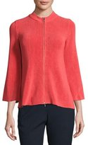 Armani Collezioni Lisse Trapeze-Sleeve Zip Jacket, Matisse Red