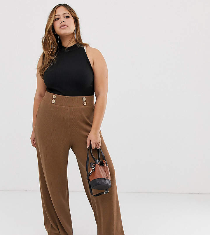 1859e01a24ef Wide Leg Pants With Buttons - ShopStyle UK