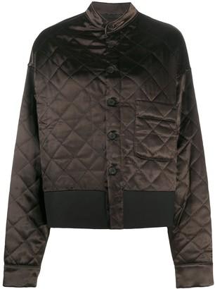 Haider Ackermann Embroidered-Detail Diamond-Quilted Jacket