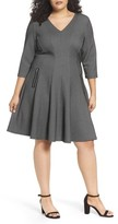 Gabby Skye Plus Size Women's Jacquard Fit & Flare Dress