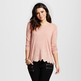 Xhilaration Women's Laser Cut Knit Top Juniors')