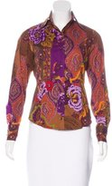 Etro Floral Print Long Sleeve Top