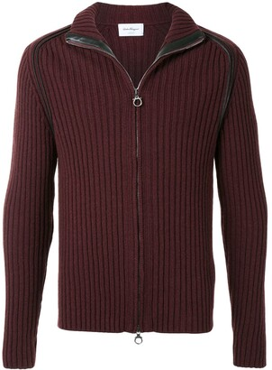 Salvatore Ferragamo Rib-Knit Zipped Jumper