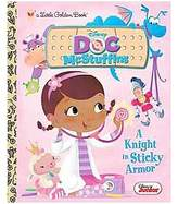 Doc McStuffins A Knight in Sticky Armor Little Golden Boo ( Little Golden Books) (Hardcover) by Andrea Posner-Sanchez