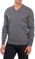 Dunhill Wool & Cashmere Engineered Fit V-Neck Sweater