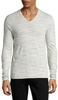 John Varvatos Star U.S.A. Luxe Linen V-Neck Sweater