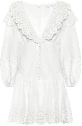 Zimmermann Bellitude linen minidress