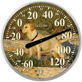 La Crosse Technology 104-114-Dog 13.5-Inch Round Thermometer with Key Hider
