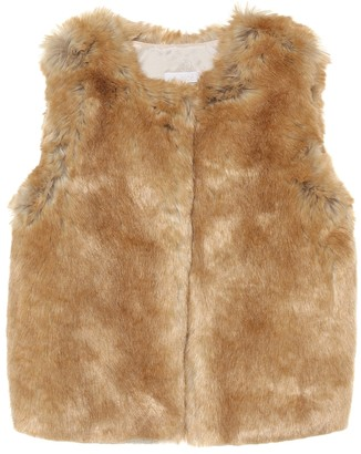 Chloé Kids Faux fur vest
