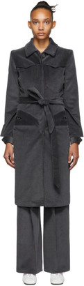 Situationist SSENSE Exclusive Blue Corduroy Coat