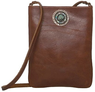 Leather Rock Pandora Cell Pouch (Brown) Cross Body Handbags