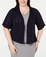 Thumbnail for your product : Robbie Bee Plus Size Pointelle Cardigan