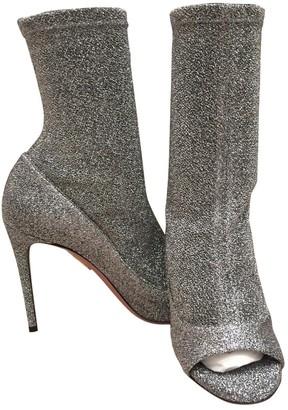 Aquazzura \N Silver Glitter Ankle boots