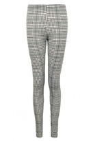 Select Fashion Fashion Womens Green Small Dogtooth Check Legging - size 6