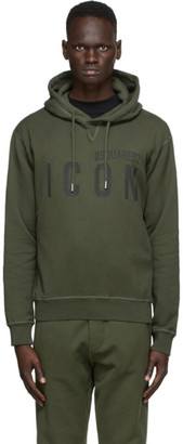 DSQUARED2 Green Icon Hoodie