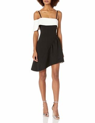 Elliatt Women's Apparel Women's Mila Sleeveless Fit & Flare Colorblock Short Party Dress