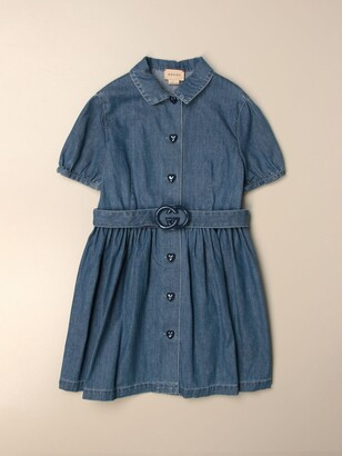 Gucci Dress With Belt And Logo