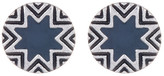 House Of Harlow Enamel Detail Sunburst & Engraving Earrings