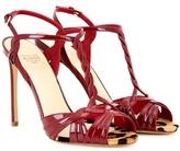 Francesco Russo Patent Leather Sandals