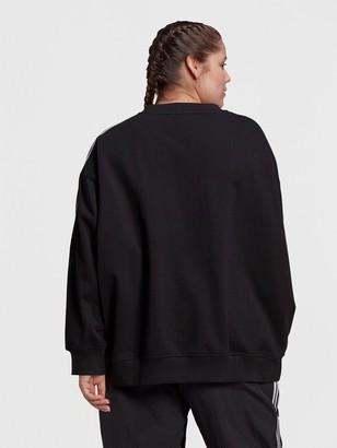 adidas Oversized Sweatshirt (Plus Size) - Black