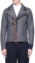 Kolor Packable hood wool-cashmere melton jacket