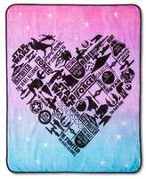 "Star Wars Classic Girl Heart Throw 50""X60"" - Pink"