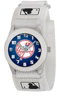 New York Yankees Game Time Rookie Series Silver Tone Watch - MLB-ROW-NY5 - Kids
