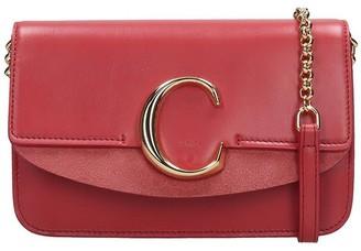 Chloé C Shoulder Bag In Rose-pink Leather
