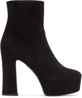 Saint Laurent Black Suede Candy Boots