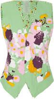 Yvonne S Floral-Print Cotton Vest